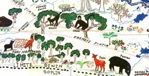 Achuar map their territory