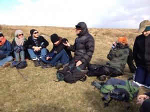 Dr Stephan Harding teaching on Dartmoor