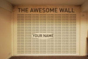 The Wall of Awesome is now full