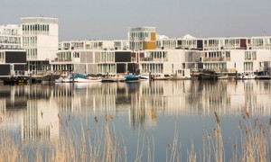 Floating houses in Ijburg, Amsterdam