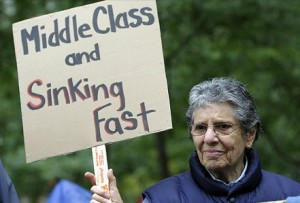 A declining middle class has significant implications