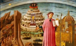 A detail from Dante and the Divine Comedy, by Domenico di Michelino.